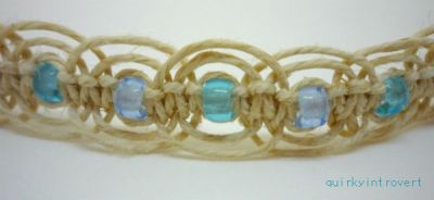hemp bracelet with beads