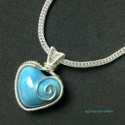 SilverSilk 3mm chain with pendant