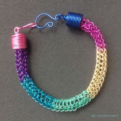 multicolored viking knit bracelet