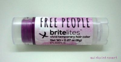 Britelites hair color purple