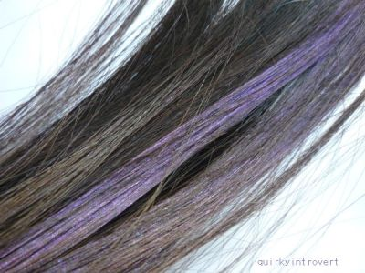 Britelites purple hair color on dark hair